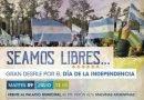 ESTE MARTES, DESFILE POR LA INDEPENDENCIA ARGENTINA