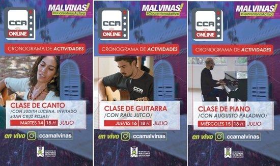 CLASES ONLINE DE LA CASA CULTURA Y ARTE DE MALVINAS ARGENTINAS