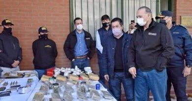 BERNI Y NARDINI EXHIBIERON LOS RESULTADOS DE OPERATIVOS ANTIDROGAS